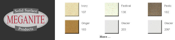Meganite Solid Surfaces Material Countertop Kitchen Bathroom
