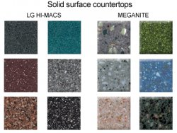 solid surface countertops lg hi-macs meganite